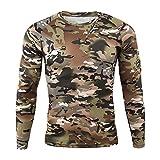 Hombre Militar Táctica Camisa,Ejercito Camuflaje BDU Camisas de Combate Manga...