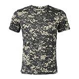 WOVELOT Nuevo Camiseta camuflaje de caza al aire libre Camiseta del combate...