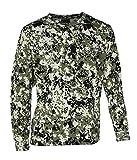 BENISPORT Camiseta Manga Larga pixelado para Caza Monterias Camisetas (XL)