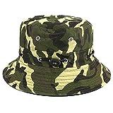 Apanphy® Sombrero de Pescador Verano Algodón Safari Senderismo Sombrero de...