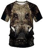 Ocean Plus Unisexo Camiseta de Deporte Cuello Redondo Disfraz con Estampado...