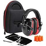 Procase Casco Insonorizado Protector de Oído + Gafas Protección + Tapones para...