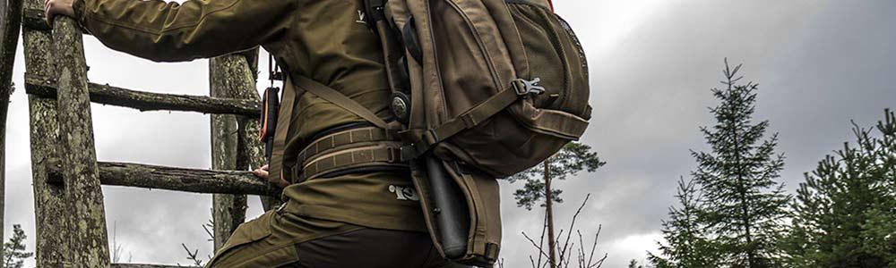 Como llevar el Rifle en la Mochila de Cazador